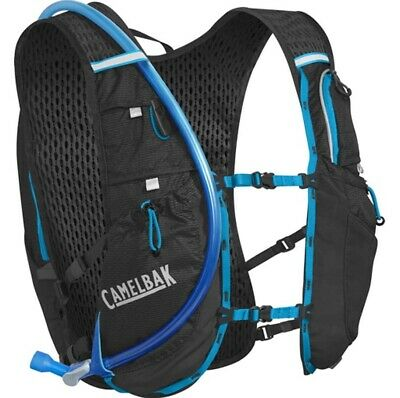 Camelbak Ultra 10L Trail Running Hydration Vest 2L - Black/Atomic Blue