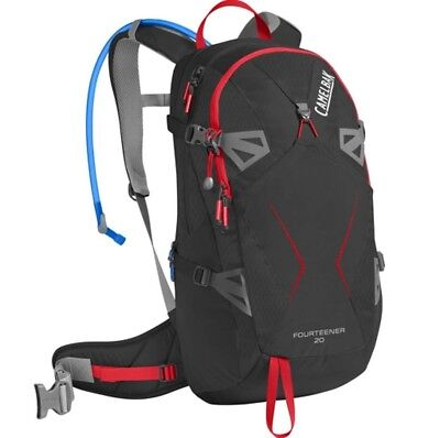 Camelbak Fourteener 20L Hydration Pack with 3L Bladder- Black/Fiery Red