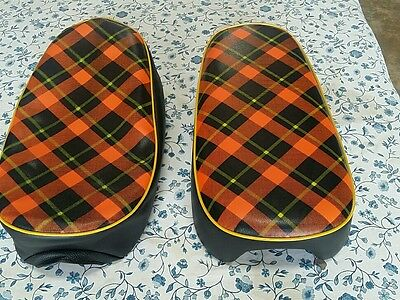 Honda Z50M Seat Cover Red Tartan Style  Best Quality  (Hs114)