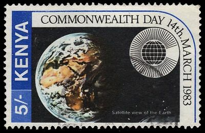 """KENYA 245 (SG274) - Commonwealth Day """"View of Globe from Space"""" (pf76581)"""
