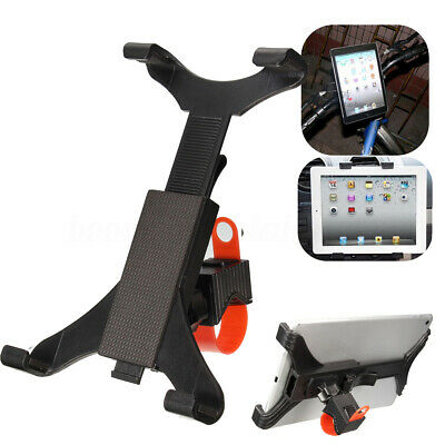 "Universal 7""-11"" Tablet Mount Holder Microphone Music Stand Clamp Bike Handlebar"