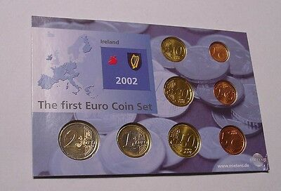 IRELAND. 2002 Euro 1st coin set, Uncirculated in pack of issue.