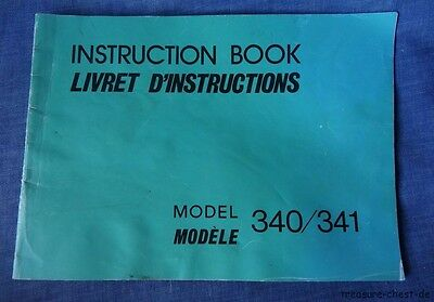 Genuine Original Manual / Instructions Book For Janome 340/341 Sewing Machine