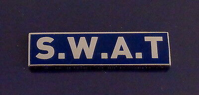 """S.W.A.T. Award Bar Silver on Blue Background 3/8"""" police/sheriff/trooper/swat"""