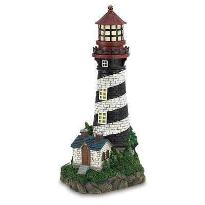 Beautiful Nautical Sun Solar Powered Lighthouse Lawn Garden Statue Figurine NEW