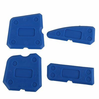4 Pc Caulking Tool Kit Sealant Silicone Grout Removal, Finishing & Cleaning Box