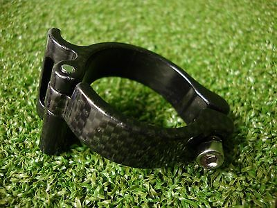 NEW AeroTec Bike Cycling Front Mech/Derailleur Band Clamp 34.9mm Carbon Effect