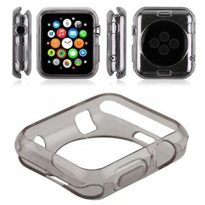 Apple Clear Black iWatch 38mm Soft Protective Case Watch Silicone