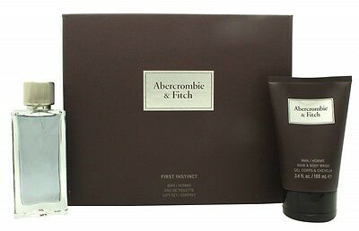 Abercrombie & Fitch First Instinct Gift Set 50Ml Edt + 100Ml Body Wash - Men's