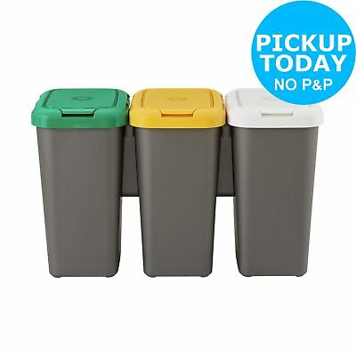 HOME Set of 3 Recycling Bins. From the Official Argos Shop on ebay