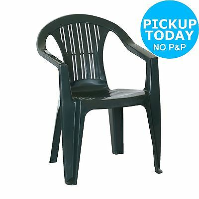 HOME BICA Stacking Weather Resistant Plastic Chair - Ratak Green. From Argos