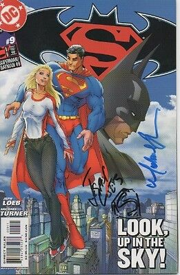 BATMAN / SUPERMAN personally signed DC comic - JEPH LOEB, MICHAEL TURNER - RARE