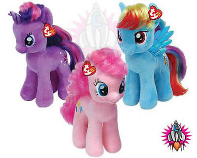 Ty Beanie Babies My Little Pony Pinkie Pie Twilight Sparkle Rainbow Dash Teddy