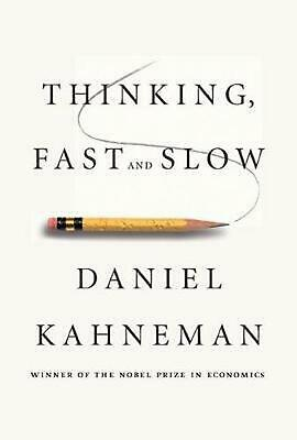 Thinking, Fast and Slow by Daniel Kahneman (English) Hardcover Book Free Shippin