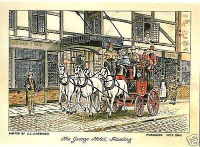 (60162) Postcard: George Hotel, Reading 1784 RobStamps