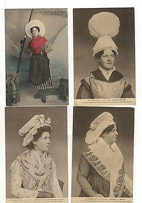 Ethnic. 19  French  Types/ethnic. Old Printed Postcards