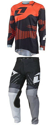 One Industries Motocross Mx Bike Kit Vapor Pants + Gamma Black Orange Jersey