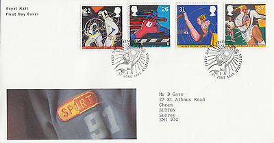 (34802) GB FDC Rugby World Cup / Student Games - Sheffield 11 June 1991