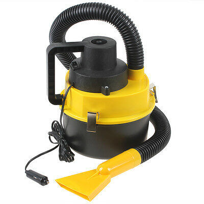 Portable DC12V Wet Dry Vehicle Car Dust Vacuum Cleaner+Brush Crevice Nozzle Head