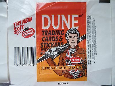 1984 DUNE MOVIE 15 WAX WRAPPERS LOT FLEER 3 Different No Cards