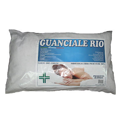 Cuscino Guanciale Fiocco In Memory Foam, 100% Made In Italy, Sanitario