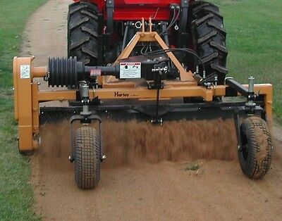 Harley Power Landscape Rake 4' Tractor,3 Point HItch Mount,Manual Angle, New
