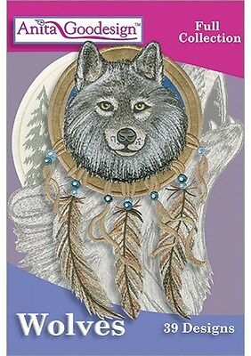Anita Goodesign Wolves Embroidery Machine Design CD NEW 240AGHD