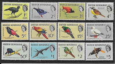 British Honduras Sg202/13 1962 Birds Definitive Set Mnh