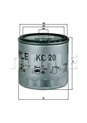 Mahle Fuel filter Screw-on KC20 replaces P4186 FT9479 WK712//2 OE 77731052