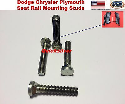 63 - 76 Dart Duster Demon Front Seat Rail Mounting Stud Bolts USA