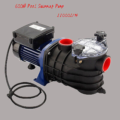 11000L/H Swimming Pool Pump Electric Strainer Filter Pump for Ground Water Spa