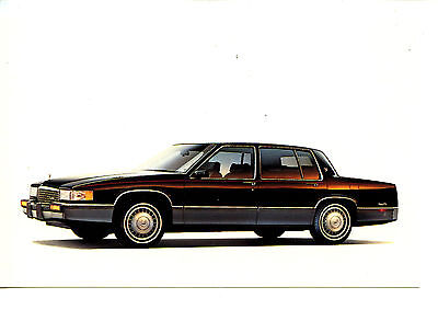 Cadillac Car Vintage 1989 Automobile Advertising Dealer Postcard