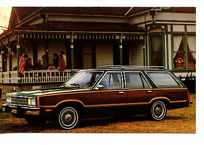 1980 Ford Fairmont Station Wagon-Wood Panel Car-Vintage Advertising Postcard