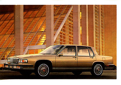1986 Cadillac Car Vintage Automobile Advertising Dealer Postcard