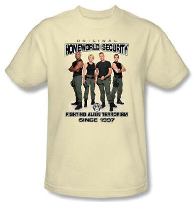 Stargate SG-1 Cast Original Homeworld Security T-Shirt, NEW UNWORN