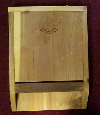 Single Chamber Bat House Wood with Hooks for Hanging New Old Stock Unused