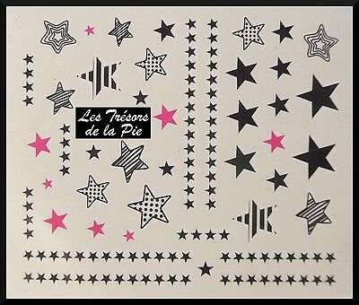 STICKERS ONGLES WATER DECAL (x44) - Nail art - Etoiles - Multicolore
