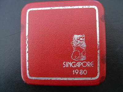 Singapore 1980 Silver $1 Proof with Original Box and Certificate of Authenticity