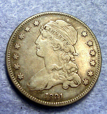 1831 Small Letter Capped  Bust Quarter Dollar 1831 25C  Old Us Silver Coin Vf+