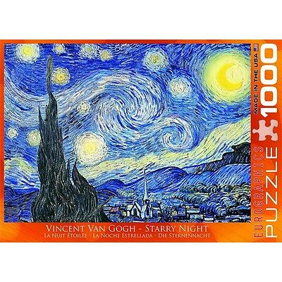 1000 Piece Starry Night Puzzle By Vincent Van Gogh - Eurographics Jigsaw Jigsaws