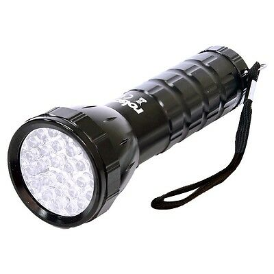 28 LED Aluminium Torch With Wrist Strap - Rolson 61671 Building Equipment
