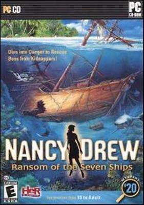 Nancy Drew: Ransom of the Seven Ships PC CD clues lost mystery treasures game!