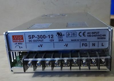 Mean Well Sp-300-12 Power Supply Dc Output 12V 24A Ac Input 100-240Vac/4A