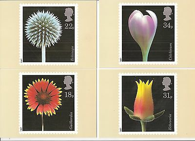 (40839) GB PHQ Mint Postcards - Flower Photography 1987