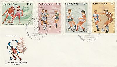(41455) CLEARANCE Burkina Faso FDC Football Worls Cup Mexico 1986