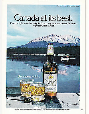 Original Print Ad-1978 CANADIAN MIST-Trumpeter Mountain, B.C. CANADA AT ITS BEST