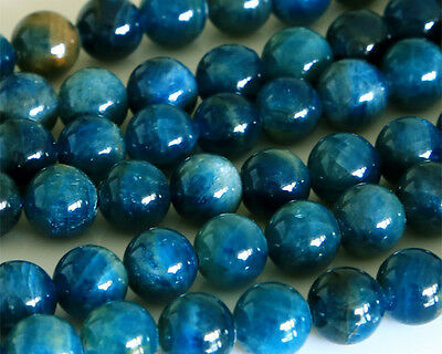Wholesale Natural Blue Apatite Round Loose Beads 4-14mm Phosphorite Stone Beads