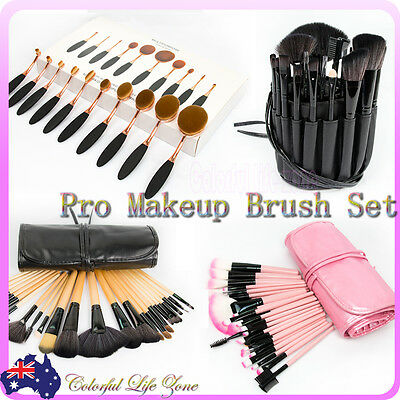 10/24/32 Cosmetic Make Up Makeup Brushes Tooth Brush Set Kit Leather Case