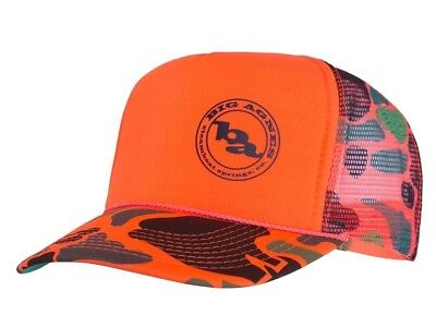 Big Agnes Logo Trucker Hat - Orange Camo