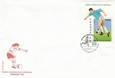 (41453) CLEARANCE Congo FDC Football World Cup France Minisheet 28 February 1996